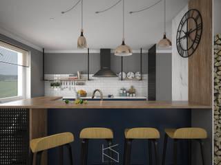 Koncepcyjny projekt kuchni: styl , w kategorii Kuchnia zaprojektowany przez KN.wnętrza