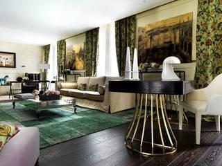 Daniele Franzoni Interior Designer - Architetto d'Interni Living room Wood Amber/Gold
