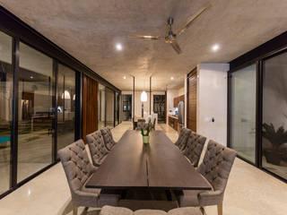Salas de jantar modernas por Taller Estilo Arquitectura Moderno