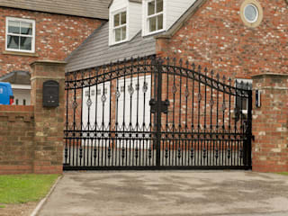 Ornate wrought iron gates: classic Garden by Swan Gates