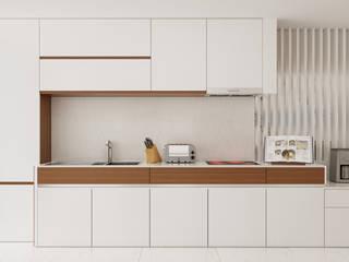 Moradia Unifamiliar T3 - Lordelo-Paredes: Cozinhas  por EsboçoSigma, Lda