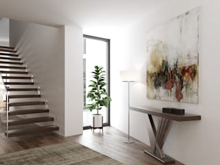 Esboçosigma, Lda 現代風玄關、走廊與階梯