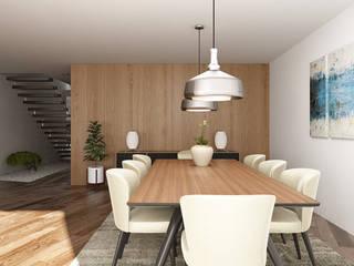 Moradia Unifamiliar T3 - Lordelo-Paredes: Salas de jantar  por EsboçoSigma, Lda,Moderno