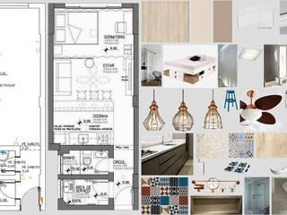 Antes e depois - reforma de loft na Vila Leopoldina Cozinhas ecléticas por PRISCILLA BORGES ARQUITETURA E INTERIORES Eclético