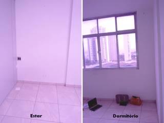 Antes e depois - reforma de loft na Vila Leopoldina Salas de estar ecléticas por PRISCILLA BORGES ARQUITETURA E INTERIORES Eclético