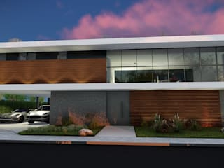 Casas de estilo  por LEONARDO CABRAL ARQUITETURA,