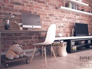 Salas de estilo minimalista de Breion Arquitetura Minimalista