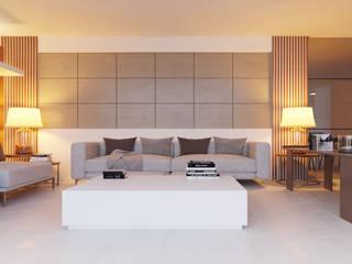 Salas de estilo moderno de Breion Arquitetura Moderno