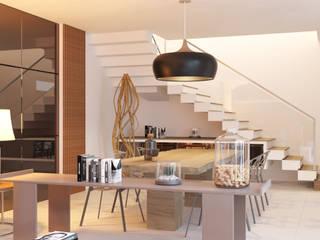 Comedores de estilo moderno de Breion Arquitetura Moderno