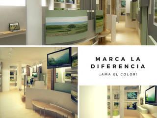 Centro de Información Minero: Centros de exhibición de estilo  por Mauriola Arquitectos