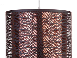 Hex Cut Out Drum Easy to Fit Ceiling Shade with Copper Inner Shade - Black Litecraft SoggiornoIlluminazione Nero