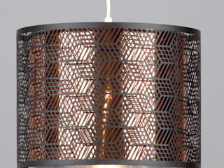 Hex Drum Ceiling Range from Litecraft Litecraft Living roomLighting Black