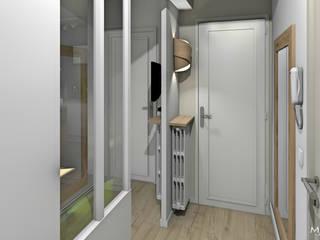 MJ Intérieurs Minimalist corridor, hallway & stairs