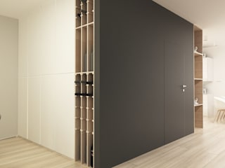 Modern Corridor, Hallway and Staircase by FOORMA Pracownia Architektury Wnętrz Modern