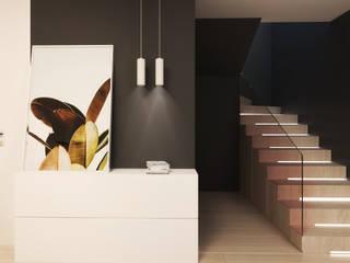 الممر الحديث، المدخل و الدرج من FOORMA Pracownia Architektury Wnętrz حداثي