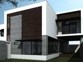 Casa NC Jardines modernos de Humberto Leal Arquitecto Moderno