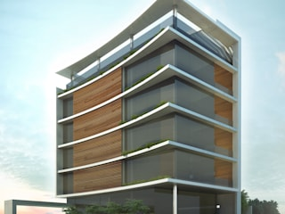 Edifício Lua:   por AR.Lo arquitetos,Moderno