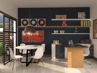 Escritório Incorporadora: Espaços comerciais  por E+D Arquitetura,Escandinavo