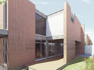 Fachada Trasera: Casas de estilo moderno por Tu Obra Maestra