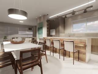 Area gourmet / Sala de jantar. : Salas de jantar  por PHD Arquitetos