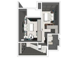 Camera da letto in stile  di Escritório 238 Arquitetura