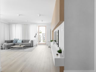 Our photoshoot of minimalistic apartment design by Design My Deer Ayuko Studio Living room