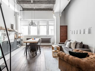 Industrial style living room by Ayuko Studio Industrial