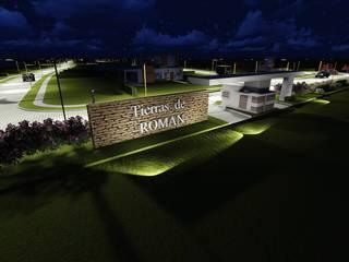 ANTEPROYECTO TIERRAS DE ROMAN (3D) Casas modernas: Ideas, imágenes y decoración de Proyectistas Ingenieros Civiles Romero Gonzalo J. y Batalla Dino I. Moderno