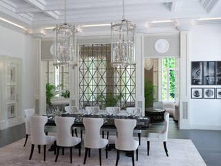 Загородный дом Столовая комната в классическом стиле от Архитектурное бюро 'Дом-А' Классический