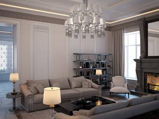 Загородный дом Гостиная в классическом стиле от Архитектурное бюро 'Дом-А' Классический
