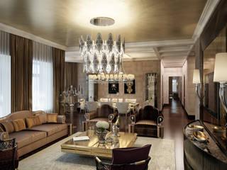 «Дом солнца» Гостиная в классическом стиле от Архитектурное бюро 'Дом-А' Классический