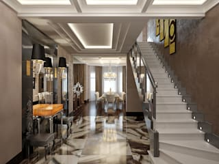 «Дом солнца» Коридор, прихожая и лестница в классическом стиле от Архитектурное бюро 'Дом-А' Классический
