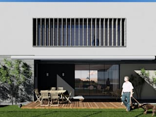 Residência em Condomínio: Casas  por Okla Arquitetura,