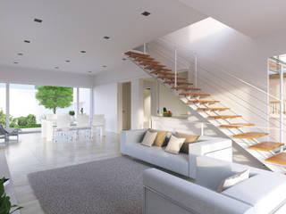 Scandinavian style living room by CA Arquitectura & Interiores Scandinavian