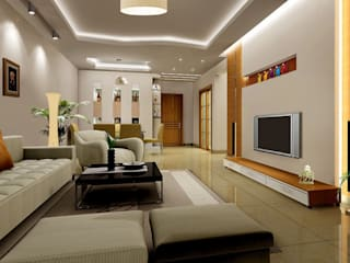 Mangalore Interior Design Projects:  Living room by Chavadi Interiors