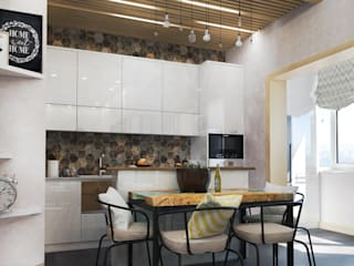 Cuisine industrielle par Студия Инстильер | Studio Instilier Industriel