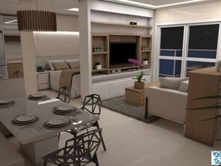 غرفة المعيشة تنفيذ Art&Contexto Arquitetura