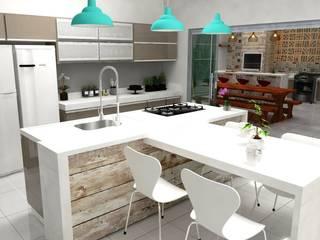 Interiores - Cozinha Gourmet Cozinhas modernas por ROSITA JAEGER ARQUITETURA E INTERIORES Moderno