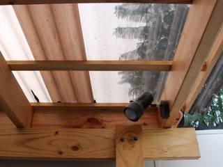 Cobertizo 2 La Florida Balcones y terrazas rústicos de Constructora Acuña Rústico