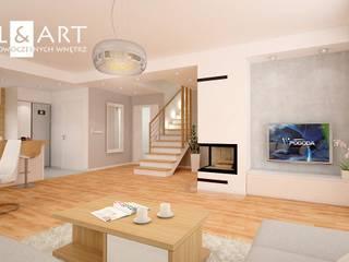 Projekt wnętrz domu jednorodzinnego: styl , w kategorii  zaprojektowany przez Miliart Studio Milena Wójtowicz Projektowanie Wnętrz Lublin