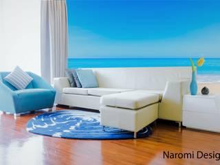 Salas de estar mediterrânicas por Naromi Design Mediterrânico