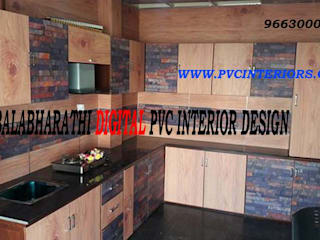 balabharathi pvc interior design KitchenCabinets & shelves Wood-Plastic Composite Multicolored