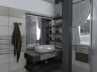 Baño de invitados de Sergio Nisticò Moderno