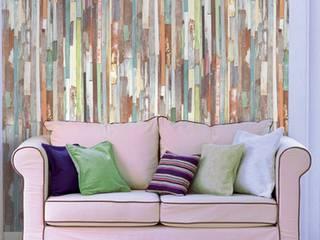 papel pintado listones de madera shabby chic multicolor de estilo de papel pintado para paredes