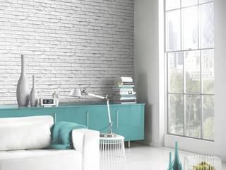 Papel pintado ladrillo industrial rústico:  de estilo  de Papel pintado para paredes Gaulan