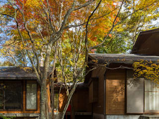 軽井沢 つなぐ家/改修別荘: 一級建築士事務所 アトリエ カムイが手掛けた庭です。,和風