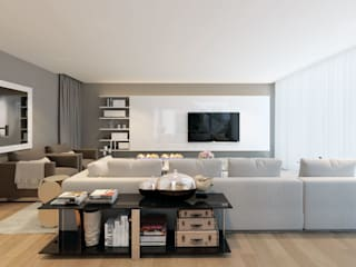 CASA MARQUES INTERIORES Living roomShelves