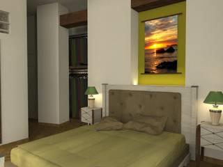 Dormitorio principal vivienda casco antiguo de Sergio Nisticò Mediterráneo