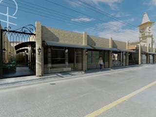 Galeria Comercial: Lojas e imóveis comerciais  por Gabriela A Arévalo - Arquitetura Urbanismo e Interiores,Clássico