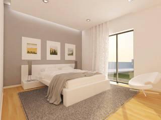 Minimalistyczna sypialnia od Pedro Palma Arquiteto Minimalistyczny